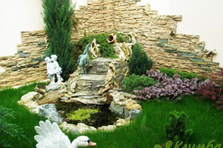 Создание декоративного пруда